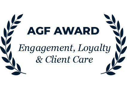 AGF Award Winner - Engagement, Loyalty & Client Care