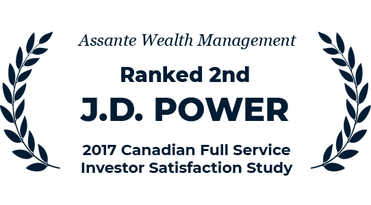 Ranked 2nd by J.D. Power - 2017 Canadian Full Service Investor Satisfaction Study